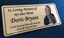 Personalised Memorial Remembrance Bench Photo Plaque Weatherproof Aluminium