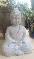 Buddha Statue Concrete Religion Grey Garden Lawn Decor Peace Buddhism