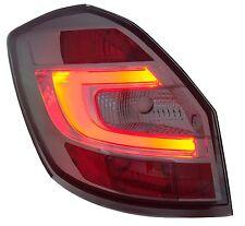 Skoda Fabia Ii 2007+ Smoked Black LED Back Rear Tail Lights Lamps Indicators Set