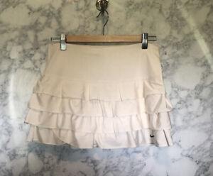 VTG Nike Court Women's Fit Dry Tennis Skirt Skort Ivory Sz Small