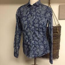 Ines De La Fressange x Uniqlo Long Sleeved Denim Shirt in Floral Print size: S