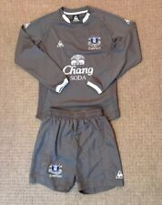 Boys Everton goalkeeper kit size LB/MB Le Coq Sportif 2009-2010