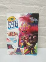 Crayola Color Wonder Trolls World Tour Coloring Book & Markers, Mess Free New
