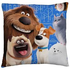 THE SECRET LIFE OF PETS ANIMALS CUSHION KIDS CHILDRENS - 2 DESIGNS IN 1