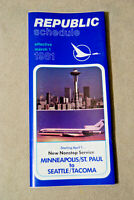 Republic Airways Timetable - March 1, 1981