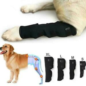 Pet Knee Pads Dog Support Brace For Right Left Leg Breathable Joint Wrap X0E1