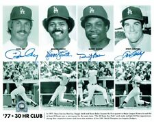 Reggie Smith Ron Cey Dusty Baker Steve Garvey Signed 8x10 Photo Dodgers 30HR