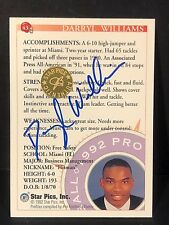 DARRYL WILLIAMS 1992 Star Pics AUTOGRAPH On Card #43 Factory Authentic Seal SSP