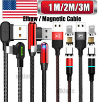 Mcdodo Led 3M/2M/1M Elbow Lightning Charger Cable Charging F iPhone 11 X 8 7 6