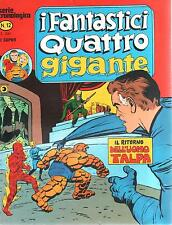 I FANTASTICI QUATTRO GIGANTE N. 12 CORNO 1978 SERIE CRONOLOGICA MARVEL