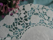 "25 - 8"" Inch Off White Ivory Paper Rose Floral Lace Doilies Craft Victorian"