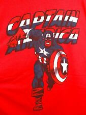 CAPTAIN AMERICA Vintage Style T-Shirt XL Red Marvel Comics Avengers