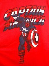 CAPTAIN AMERICA Vintage Style T-Shirt XL Red Marvel Comics Avengers