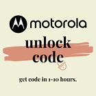 Unlock Code Motorola Moto E4 E5 GO Play G4 Play G5 G6 Plus Play G7 Verizon USA