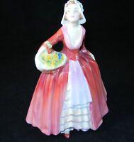 ROYAL DOULTON Janet Figurine HN 1537 MINT Woman in Red w Basket