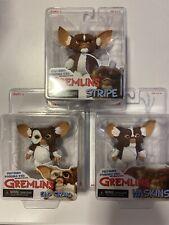 NECA Reel Toys Gremlins Series 3 Mogwai Set Of 3 Stripe, Haskins And Sad Gizmo