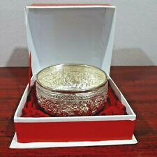 Thai Handmade Craft Silver Sterling Bowl Traditional Vintage Antique Souvenir