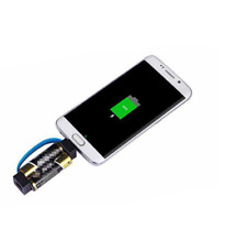 2 AA Battery Powered Mini Outdoor Portable Magnetic Charger And IPhone Converter