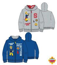 Boys Sweater Jacket Fireman Sam Casual Jacket Blue Grey 98 - 128 #83