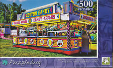 NEW Puzzlebug 500 Piece Puzzle ~ Cotton Candy & Caramel Apples at the Fair