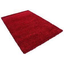 Hochflor Shaggy kuschel Wohnzimmer Teppich einfarbig kuschel Tivoli ROT 2500