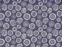 Tenugui Cloth Japanese Cotton Towel Gauze 'Navy Fireworks' Fabric
