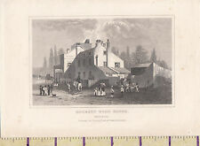 C1840 Londra vittoriana stampa ~ ~ Hornsey Legno Casa Taverna (Regina Elisabetta I)