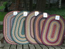 """NEW-20""""/inches X 30""""/inches-CAPITOL EARTH THROW RUGS-Braided Jute-Low shipping"""