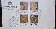 """SAN MARINO 1973 """"PITTORI GENTILE DA FABRIANO"""" RACCOMANDATA FDC COVER (CAT.J)"""