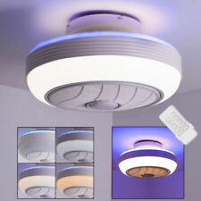 LED ceiling fan daylight REMOTE CONTROL living room bedroom air cooler lamp new
