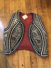 Vintage Ottoman Turkish Wool Thread Embroidery Embroidered Yelek Vest Late 19c