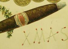 Vintage Victorian Cigar Die-Cut Christmas Card Fab! P193