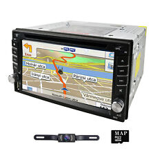 "GPS Navigation+8GB Map Bluetooth Radio Double Din 6.2"" Car Stereo DVD Player CD"
