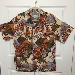 Kamehameha Hawaii, Unique Print, Size Large, Short Sleeve Shirt