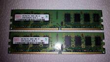 2x2GB (4GB) Hynix 2GB 2Rx8 PC2-6400U-666-12 DDR2 Arbeitsspeicher