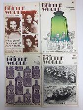 Vintage Antique Bottle World Magazine January - April 1980 - Lot of 4 Free Ship