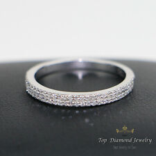 2.5mm 0.24 ct Round Diamond Micro Pave Set Full Eternity Wedding Ring in W.Gold