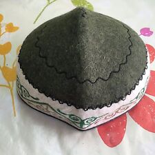 Kyrgyzstan Traditional Handmade Felt Hat Cap Tubeteika Embroydered Unisex E104