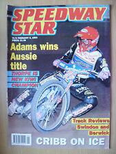 SPEEDWAY STAR MAGAZINE- Vetlanda- Adams Wins Aussie Title, 6 February 1993