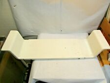 "Bathtub Adjustable Porcelain Covered Steel Caddie Tray good used shape 7.5"" wide"