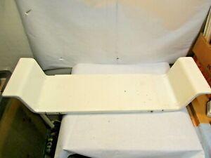 "Bathtub Adjustable Porcelain Covered Steel Caddie Tray good used shape 7.5"" wide"