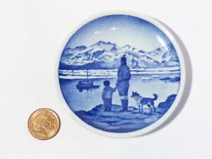 Royal Copenhagen Miniature Plate Pa Udkik Efter Far Gronland 43-2010