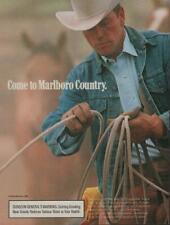 1989 Marlboro Cigarettes Vintage Magazine Ad Sexy Cowboy Hat Denim Jacket Rope