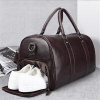 AU Large Mens Gym Duffel Sport  Shoulder Bag Travel Overnight Luggage Handbag