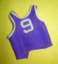 Vtg Mattel 70s BIG JIM Action Figure Clothes PURPLE BASKETBALL JERSEY