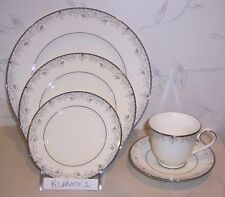 NEW Noritake VENETIAN SCROLL 5 pc Place Settings -Dinner Salad Bread Cup Saucer
