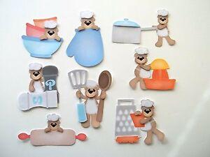 3D-U Pick-CB1 Cooking Baking Bears Oven Mixer Apron Scrapbook Card Embellishment