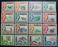 NORTH BORNEO / SABAH ( MALAYSIA ) 1964 SG 408 - 423 MNH OG (SOME TONING)