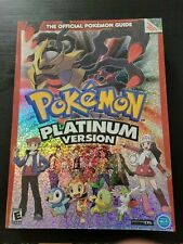 Pokemon Platinum Version Official Nintendo DS Strategy Guide w/ Poster