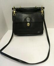 Vintage COACH 9927 Black Leather Purse Crossbody Messenger Bag
